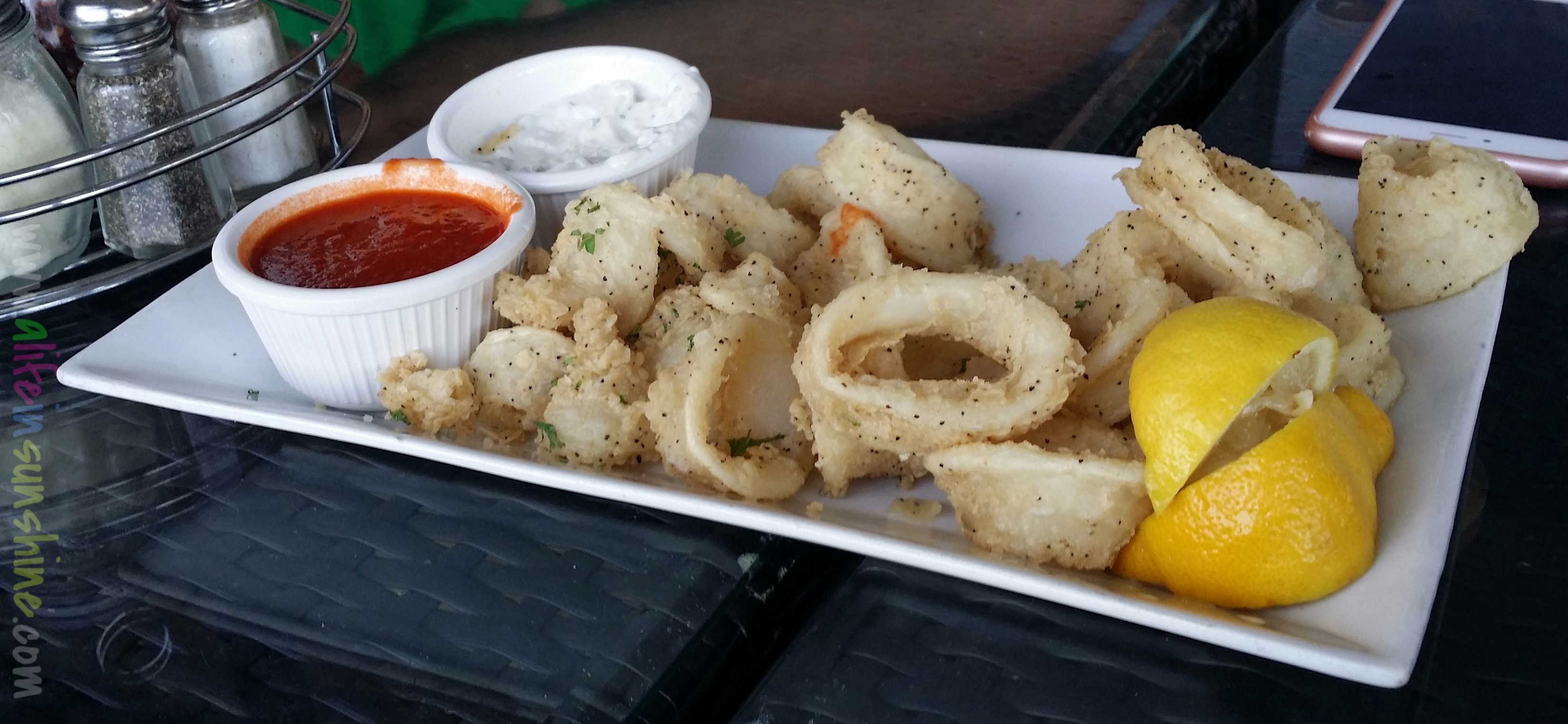 my boyfriend and i shared this calamari appetizer  the sauces were both great and there was actually a lot of calamari  i u0027ve experienced more breading than     the hammocks  amici u0027s trattoria italiana  u2013 a life in sunshine  rh   alifeinsunshine